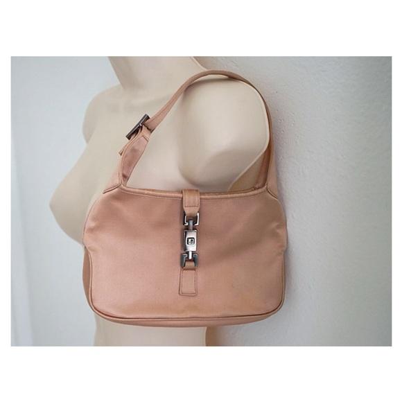f5650c112903 Gucci Bags   Rare Auth Jackie Pink Gold Satin Bag   Poshmark